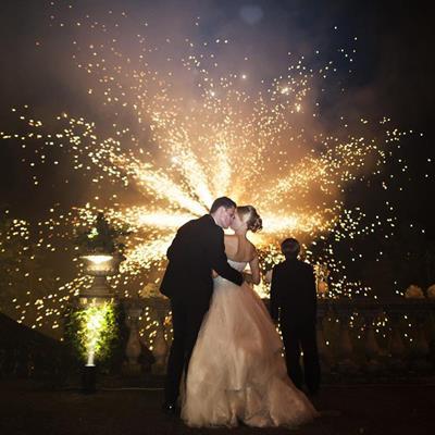 Wedding firework displays - Powys