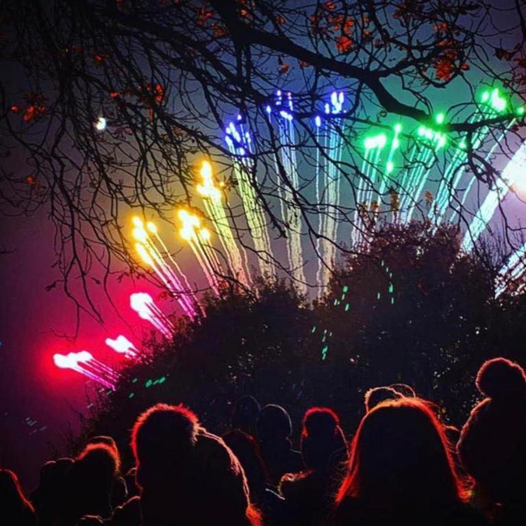 Low Noise Pyromusical Wedding Fireworks